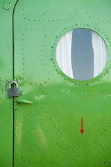 the fuselage of the aircraft is green