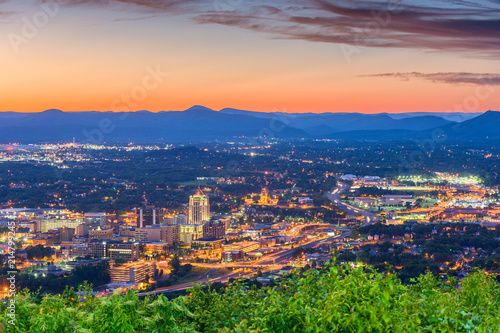 Obraz Roanoke, Virginia, USA Skyline - fototapety do salonu