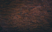 Old Red Brick Wall Texture Background,brick Wall Texture For For Interior Or Exterior Design Backdrop,vintage Dark Tone.
