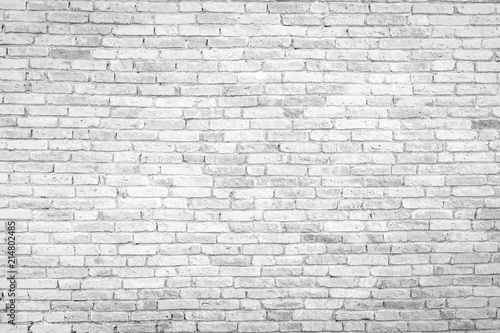 Deurstickers Baksteen muur Old white brick wall texture background,brick wall texture for for interior or exterior design backdrop.