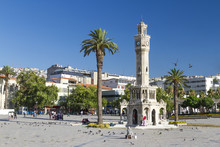 Famous Clock Tower In Izmir