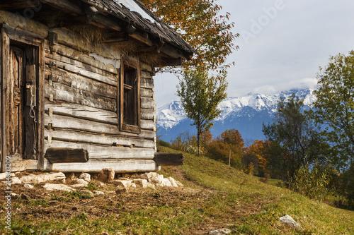 Fototapety, obrazy: Colorful autumn landscape in the mountain village Magura, in the Carpathian mountains. Romania.