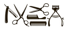 Barbershop Items Such As Sciss...