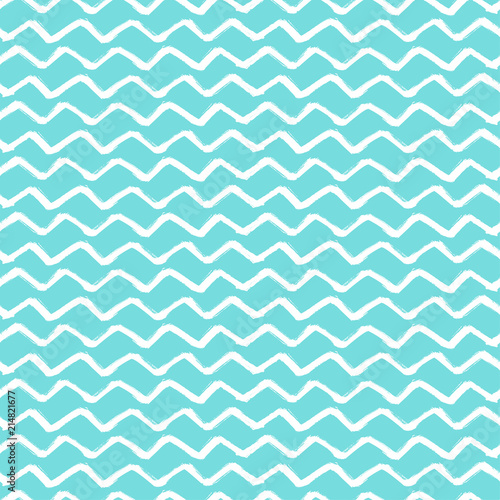 Chevron Zigzag Paint Brush Strokes Seamless pattern Wallpaper Mural