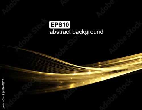 Fototapeta Abstract light wave futuristic background. Vector illustration. obraz na płótnie