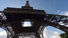 Shot From Underneath The Eiffel Tower In Paris, France.
