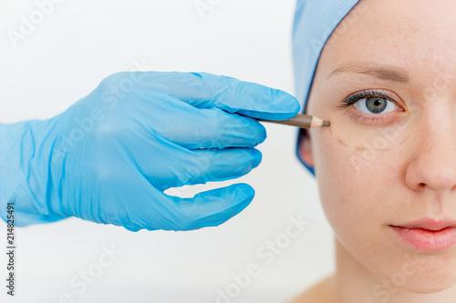 Plastic surgeon at work Wallpaper Mural