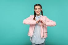 In Love Heart Gesture Portrait...