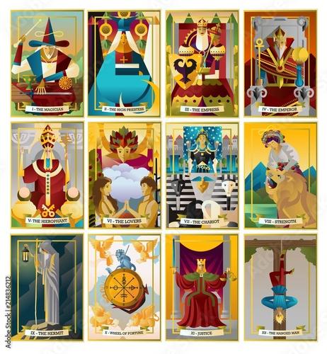 Tablou Canvas tarot cards collection