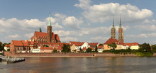 Wroclaw Cityscape With Church ...