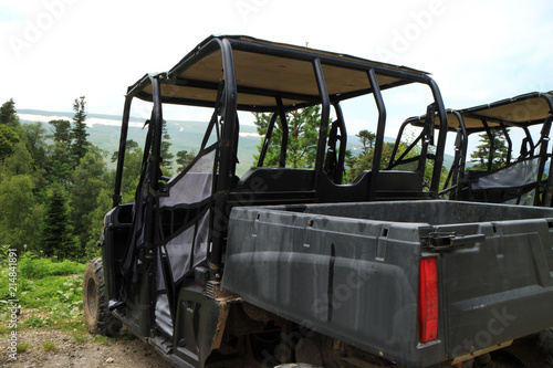 An image of an all-terrain vehicle for mountain travel.
