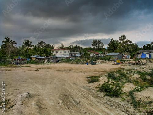 Fotografia  Hütten, abseits des Tourismus, Thailand