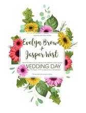 Floral Template, Wedding Invit...