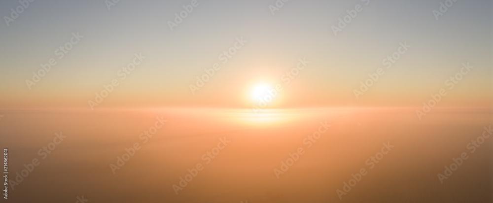 Fototapety, obrazy: South Dakota Sun Rising Over Fog