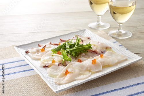 Canvas Prints Appetizer タコのカルパッチョ (octopus carpaccio)