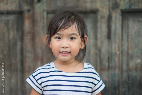 Valokuva Portrait Asian cute little girl smiling happy