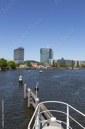 Photo  Amsterdam, Netherlands - July 02, 2018: View of modern buildings on Amsterdam's