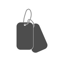 Dogtag Personal Id Sign Illust...