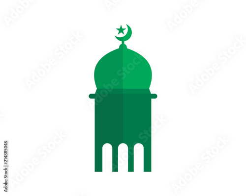 green mosque islam muslim religion spirituality religious image vector icon buy this stock vector and explore similar vectors at adobe stock adobe stock green mosque islam muslim religion
