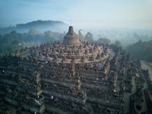 Borobudur Buddhist Temple Dron...