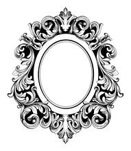 Baroque Mirror Round Frame. Ve...
