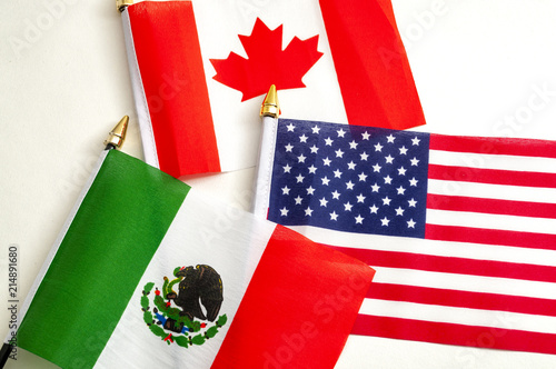 Poster  North American Free Trade Agreement or Nafta and 2026 football world cup organiz