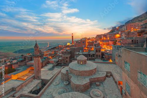 Mardin old town at dusk - Turkey