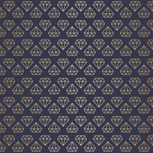 Vector Illustration Abstract Seamless High Premium Gold Diamond Pattern Background