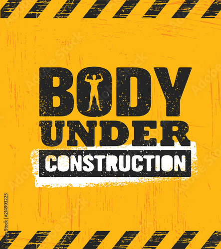 Body Under Construction Canvas Print