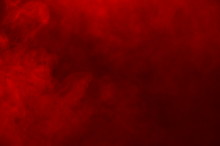 Abstract Red Smoke Like Cloud Wave Effect On Black Background, Flowing