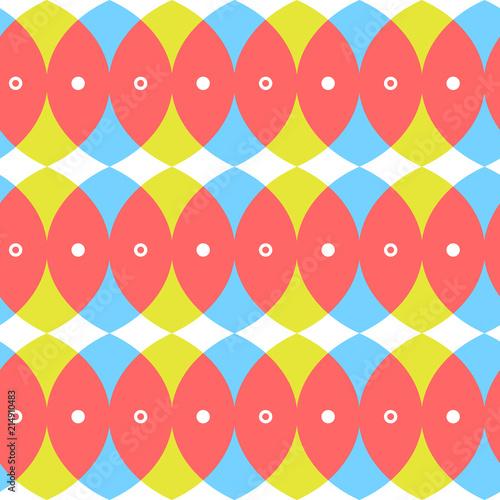 Fototapety Geometryczne   przenikajace-sie-kola-w-intensywnych-kolorach