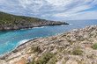Panorama of Limnionas beach bay at Zakynthos island, Greece