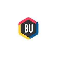 Initial Letter BU Logo Template Design