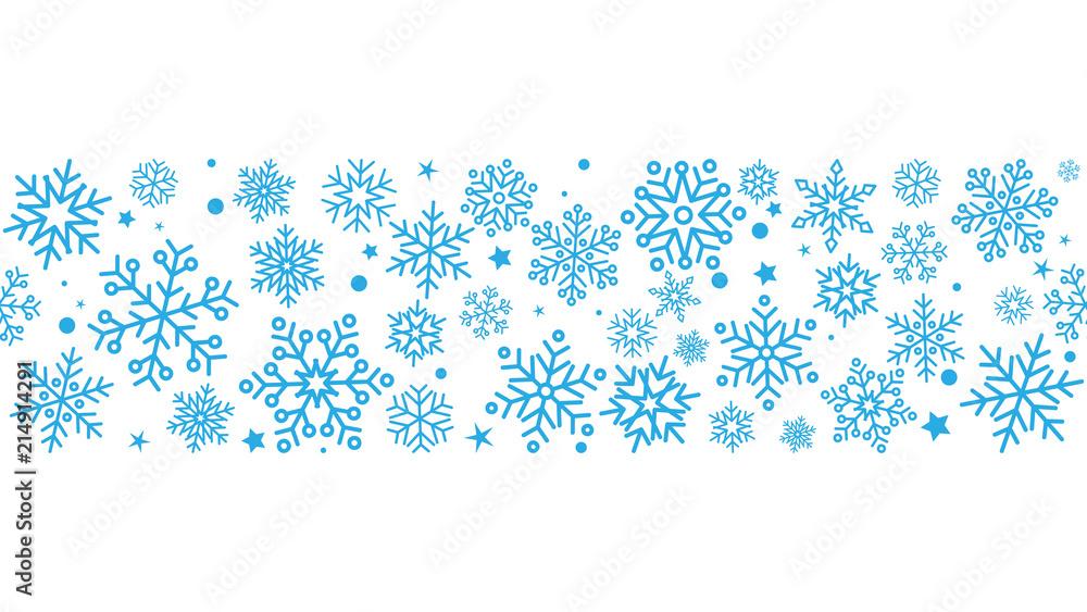 Fototapeta płatki śniegu bezszwowe tło wektor