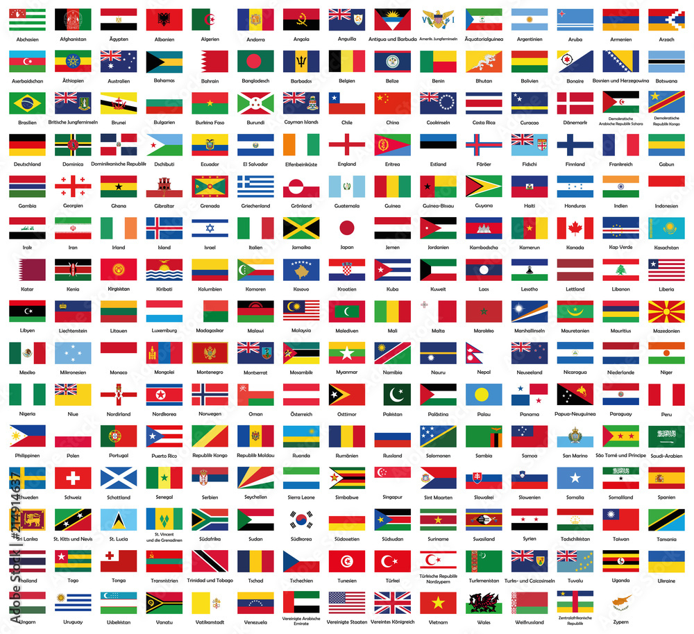 Fototapety, obrazy: All National Flags Of The World