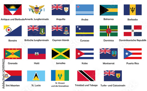 All National Flags Of Caribbean Buy This Stock Vector And Explore Similar Vectors At Adobe Stock Adobe Stock