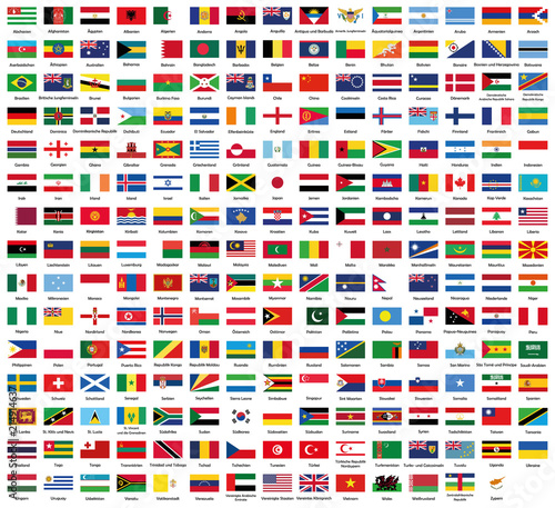 All National Flags Of The World Fototapete