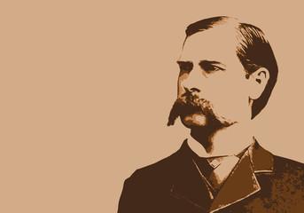 Wyatt Earp - portrait - Marshall - personnage - historique - célèbre - Chasse...