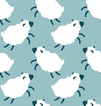 Sheeps Seamless Pattern
