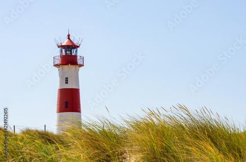Foto op Aluminium Vuurtoren Beautiful Lighthouse List-Ost - A Lighthouse on the island Sylt