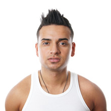 Young Turk With Spiky Hair, Isolated On White