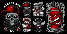 Set Of Graffiti Illustrations.