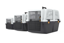 Row Fo Pet Travel Plastic Cage...