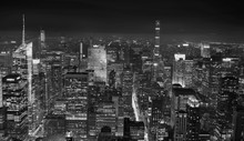 New York Vista Dall'alto In Bianco E Nero