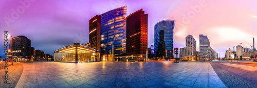 Printed kitchen splashbacks European Famous Place The Potsdammer Platz in Berlin, Germany