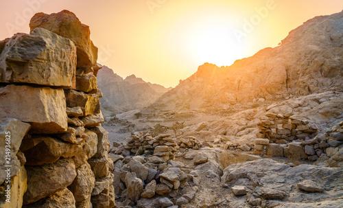 Poster Ruins Ancient village ruins