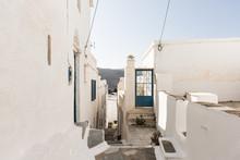 Ruelle Typique De Village En Grèce