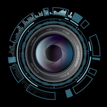 Camera Photo Lens With HUD Int...