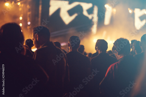 Fototapety, obrazy: Concert lights and crowd background
