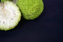 Several Fruits Of Maclura Pomifera Or Osage Orange